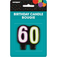 Birthday Cheer 60th Birthday Candle, Packaging