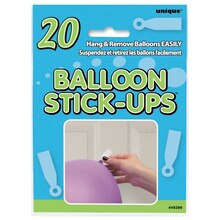 Balloon Stick-Up Hangers, 20ct