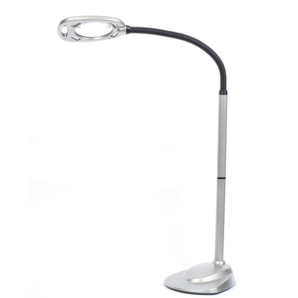 Floor light and magnifier by artminds for Magnifier lamp for crafts