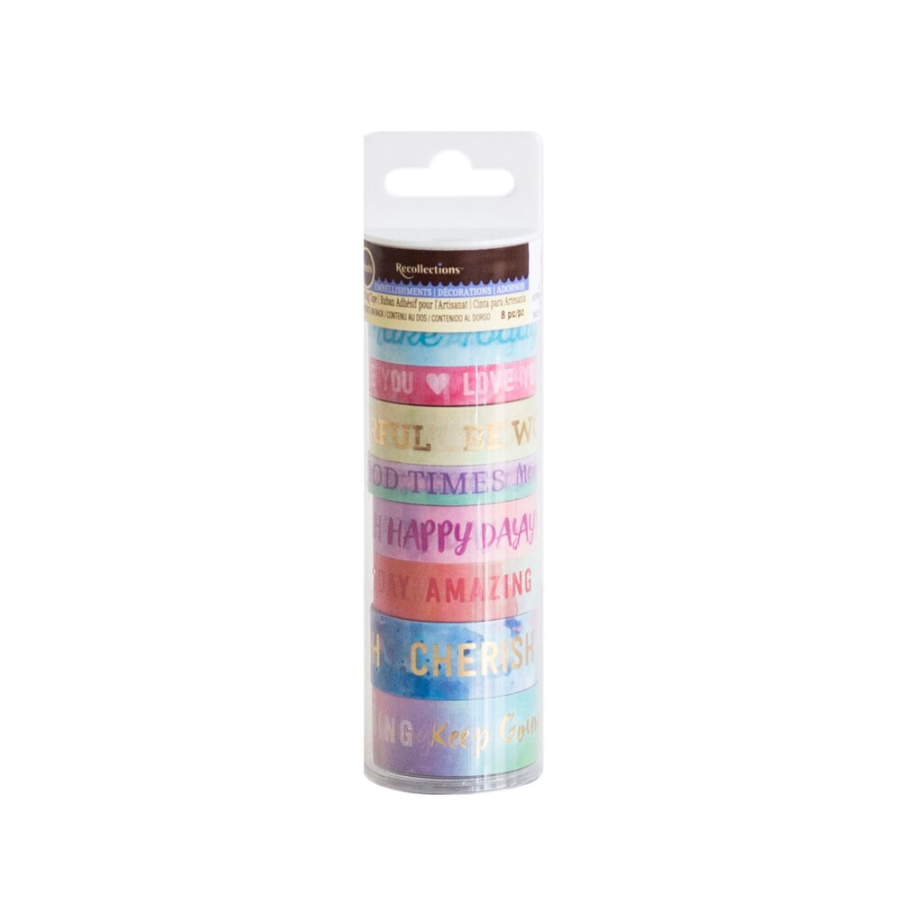 Find The Pastel Welcome Words Washi Tape Tube By Recollectionsa At