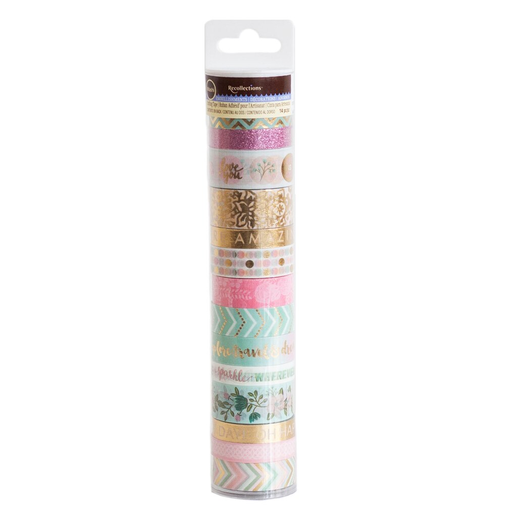 buy the tea party washi tape tube by recollections at michaels. Black Bedroom Furniture Sets. Home Design Ideas
