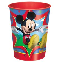 16oz Mickey Mouse Plastic Cups, 12ct