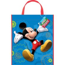 "13"" x 11"" Large Plastic Mickey Mouse Favor Bags, 12ct"