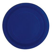 "7"" Navy Blue Party Plates, 8ct"