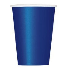 12oz Navy Blue Paper Cups, 10ct