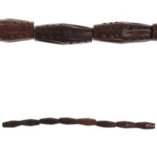 Bead Gallery Medium Stained Wooden Diamond Beads, Brown