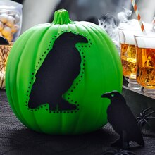 Crow Glow in the Dark Pumpkin, medium