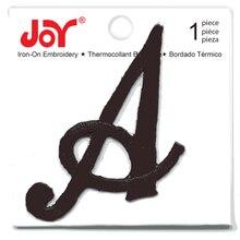 Joy® Large Monogram Black Iron-On Embroidery Letter, medium
