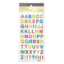 Multicolor Alphabet Epoxy Stickers By Recollections