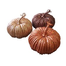 Medium Glitter Pumpkins by Ashland