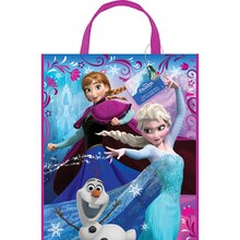 "13"" x 11"" Large Plastic Disney Frozen Favor Bags, 12ct"