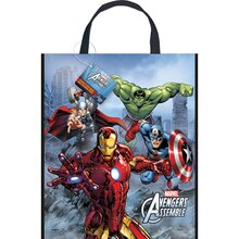 "13"" x 11"" Large Plastic Avengers Favor Bags, 12ct"