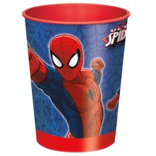 16oz Spiderman Plastic Cups, 12ct