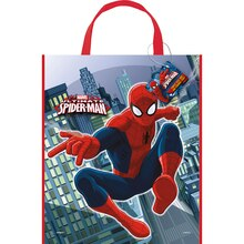 "13"" x 11"" Large Plastic Spiderman Favor Bags, 12ct"