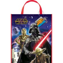 "13"" x 11"" Large Plastic Star Wars Favor Bags, 12ct"