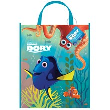 "13"" x 11"" Large Plastic Finding Dory Favor Bags, 12ct"