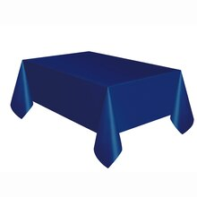 "Plastic Navy Blue Tablecloth, 108"" x 54"""