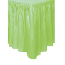 Plastic Mint Green Table Skirt, 14 Ft.