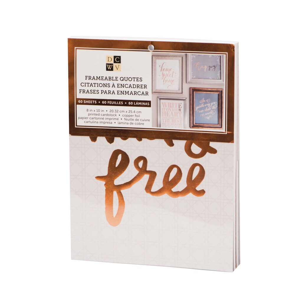 Find the DCWV® Frameable Quotes Cardstock Stack, Copper at Michaels