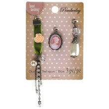 Pemberley Cameo & Rose Charms By Bead Landing