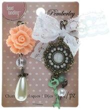 Pemberley Rose & Key Charms By Bead Landing
