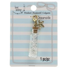 Oceanside Pearl Bottle Pendant By Bead Landing