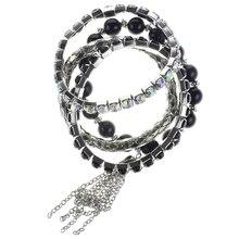 Black & Silver Bracelets by Bead Landing