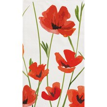 Red Poppy Paper Guest Towels, 20ct