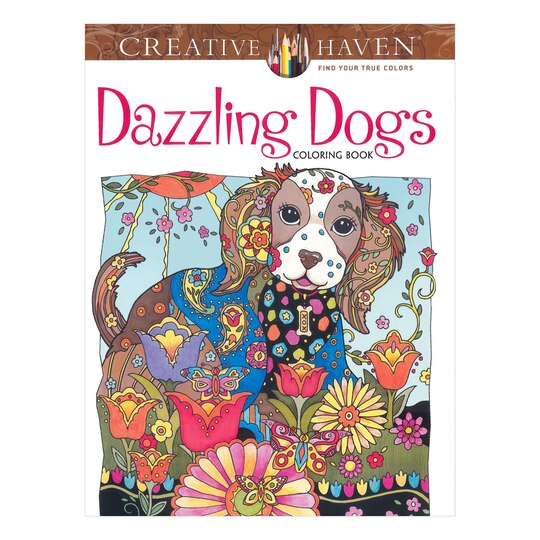 creative haven dazzling dogs coloring book - Coloring Books