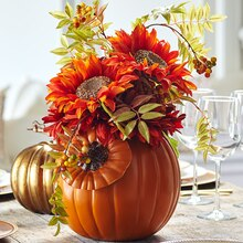 Classic Craft Pumpkin Floral Arrangement, medium