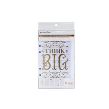 Creative Year Think Big Journal Inserts By Recollections