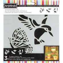 DIY Outdoor Nature Stencil Set By ArtMinds