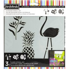 DIY Home Tropical Outdoor Stencil Set By ArtMinds