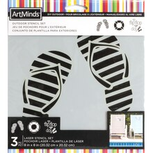 DIY Outdoor Poolside Stencil Set By ArtMinds