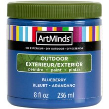 DIY Home Décor Outdoor Paint By ArtMinds, 8oz. Blueberry