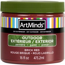 DIY Home Décor Outdoor Paint By ArtMinds, 16oz. Brick Red