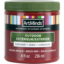 DIY Home Décor Outdoor Stain By ArtMinds, 8oz. Brick Red