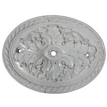 White Oval Medallion Resin Decor Accent By ArtMinds