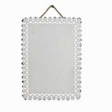 White Rectangular Iron Plaque By ArtMinds