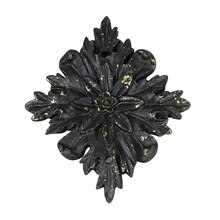 Black & Gold Diamond Flower Resin Decor Accent By ArtMinds