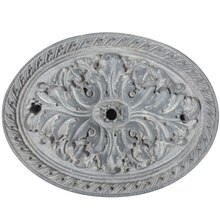 Gray Oval Medallion Resin Decor Accent By ArtMinds