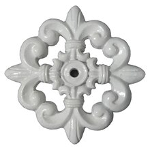 White Medallion Resin Decor Accents By ArtMinds