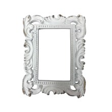 White Rectangular Frame Resin Decor Accents By ArtMinds