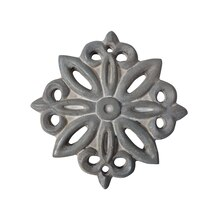 Gray Medallion Resin Decor Accents By ArtMinds