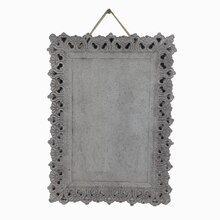 Gray Rectangular Iron Plaque By ArtMinds