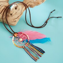 Boho Jewelry Dream Catcher Necklace, medium