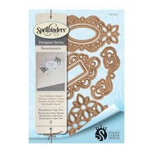 Spellbinders Shapeabilities Stacey Caron Designs Renaissance Tags 2 Etched Dies
