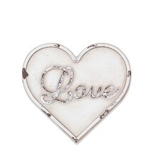 White Love Heart Magnetic Metal Plaque By ArtMinds