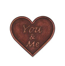 Copper You & Me Heart Magnetic Metal Plaque By ArtMinds