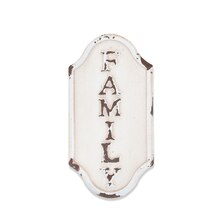 White Family Magnetic Metal Plaque By ArtMinds
